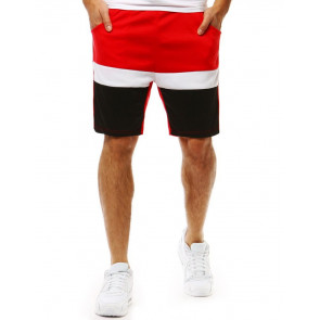 Šortai (Krótkie spodenki dresowe męskie czerwone SX0876 - Drabuziai rubai internetu
