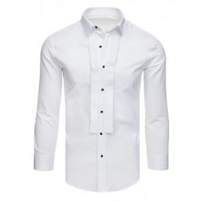 Marškiniai (Koszula smokingowa z plisami biała DX1740 - Drabuziai rubai internetu