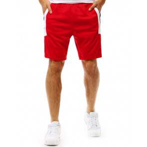 Šortai (Krótkie spodenki dresowe męskie czerwone SX0873 - Drabuziai rubai internetu