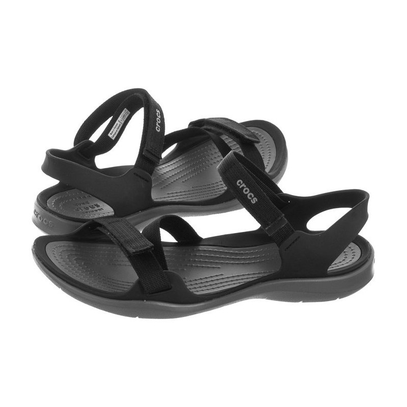 Crocs Swiftwater Webbing Sandal Black 204804-001 (CR147-d) sandalai