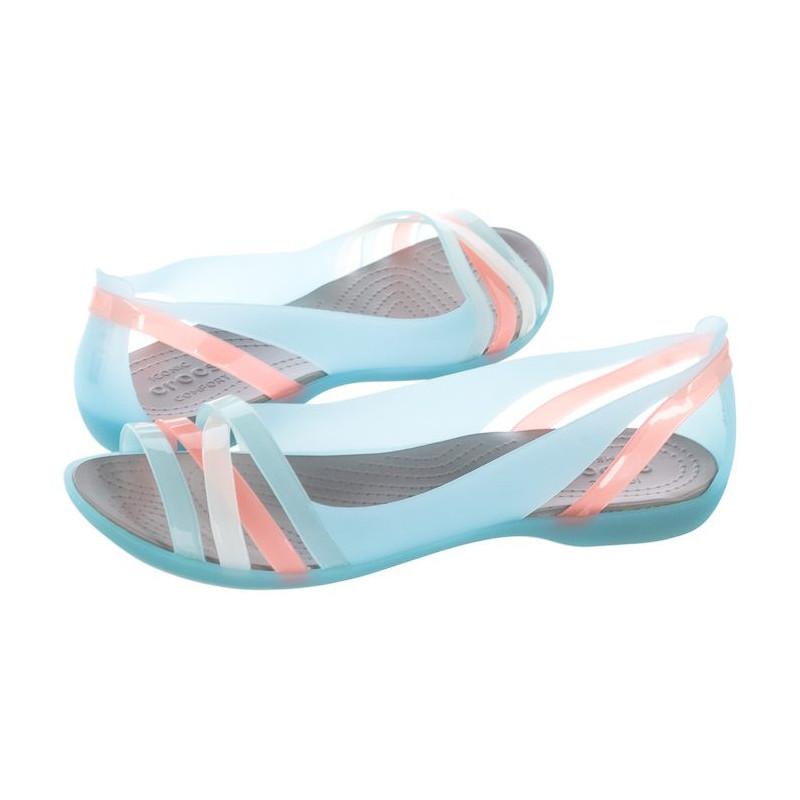 Crocs Isabella Huarache 2 Flat W Ice Blue/Platinum 204912-4CW (CR143-e) sandalai