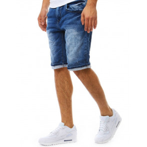 Šortai (Spodenki męskie jeansowe niebieskie SX0801 - Drabuziai rubai internetu