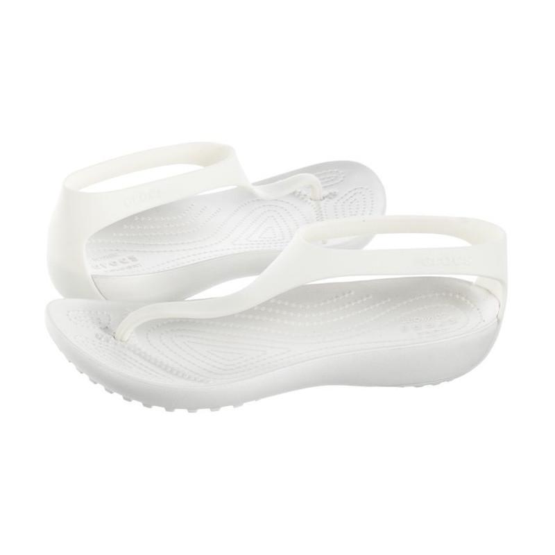 Crocs Serena Flip W Oyster 205468-12U (CR159-d) sandalai