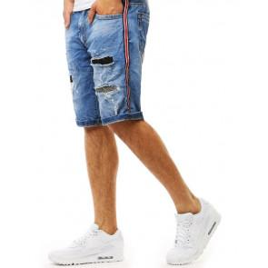 Šortai (Spodenki męskie jeansowe niebieskie SX0917 - Drabuziai rubai internetu