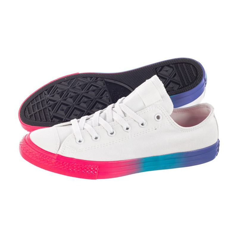 Converse CT All Star OX White/Racer Pink/Black 664198C (CO390-a) bateliai