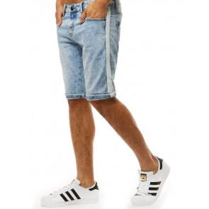 Šortai (Spodenki męskie jeansowe niebieskie SX0924 - Drabuziai rubai internetu