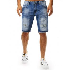 Šortai (Spodenki męskie jeansowe niebieskie SX0932 - Drabuziai rubai internetu