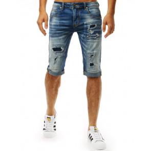 Šortai (Spodenki męskie jeansowe niebieskie SX0941 - Drabuziai rubai internetu