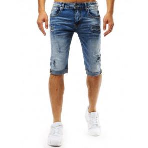 Šortai (Spodenki męskie jeansowe niebieskie SX0942 - Drabuziai rubai internetu