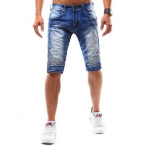 Šortai (Spodenki jeansowe męskie niebieskie SX0535 - Drabuziai rubai internetu