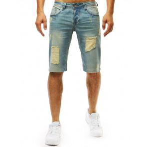 Šortai (Spodenki męskie jeansowe niebieskie SX0973 - Drabuziai rubai internetu