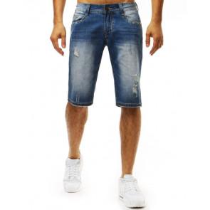 Šortai (Spodenki męskie jeansowe niebieskie SX0974 - Drabuziai rubai internetu