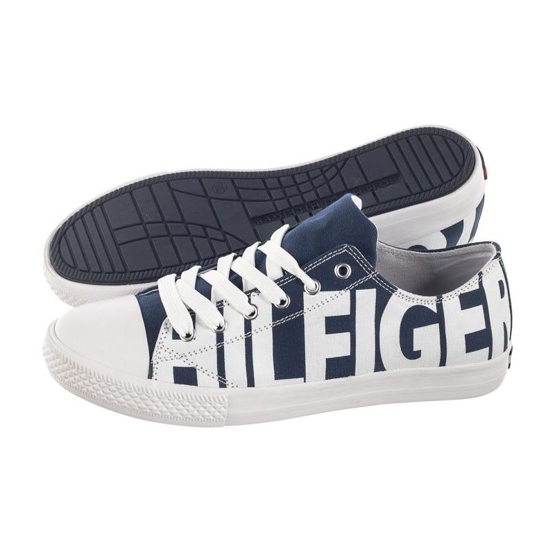 Tommy Hilfiger Low Cut Lace-Up Sneaker T3B4-30274-0618 X007 Blue/White (TH45-b) bateliai