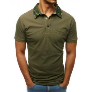 Marškinėliai (Koszulka polo męska zielona PX0240 - Drabuziai internetu
