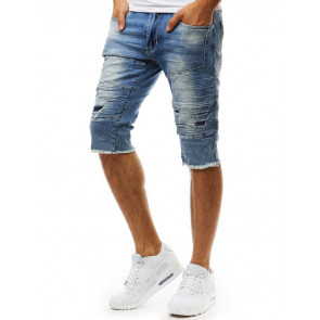Šortai (Spodenki męskie jeansowe niebieskie SX0921 - Drabuziai rubai internetu