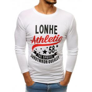Marškinėliai (Longsleeve męski z nadrukiem biały LX0505 - Drabuziai rubai internetu