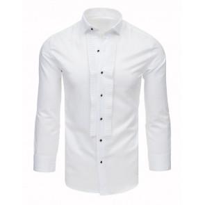 Marškiniai (Koszula smokingowa z plisami biała DX1744 - Drabuziai rubai internetu