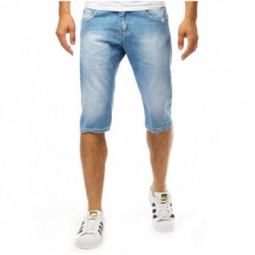 Šortai (Spodenki męskie jeansowe niebieskie SX0994 - Drabuziai rubai internetu
