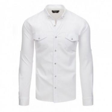 Marškiniai (Koszula męska z długim rękawem biała DX1753 - Drabuziai rubai internetu