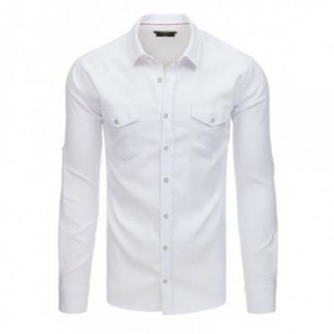 Marškiniai (Koszula męska z długim rękawem biała DX1759 - Drabuziai rubai internetu