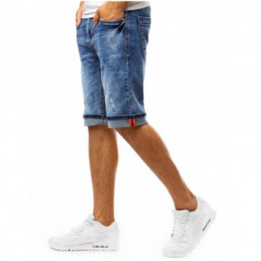 Šortai (Spodenki męskie jeansowe niebieskie SX1000 - Drabuziai rubai internetu