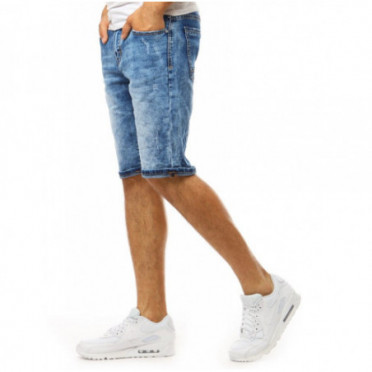 Šortai (Spodenki męskie jeansowe niebieskie SX1069 - Drabuziai rubai internetu