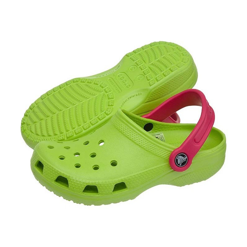 Crocs Classic Kids Volt green/Raspberry 10006 (CR56-a) avalynė