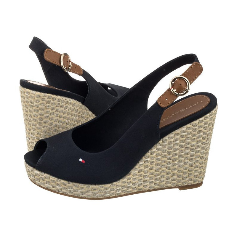 Tommy Hilfiger Iconic Elena Basic Sling Back FW0FW02787 403/Midnight (TH1-a) batai