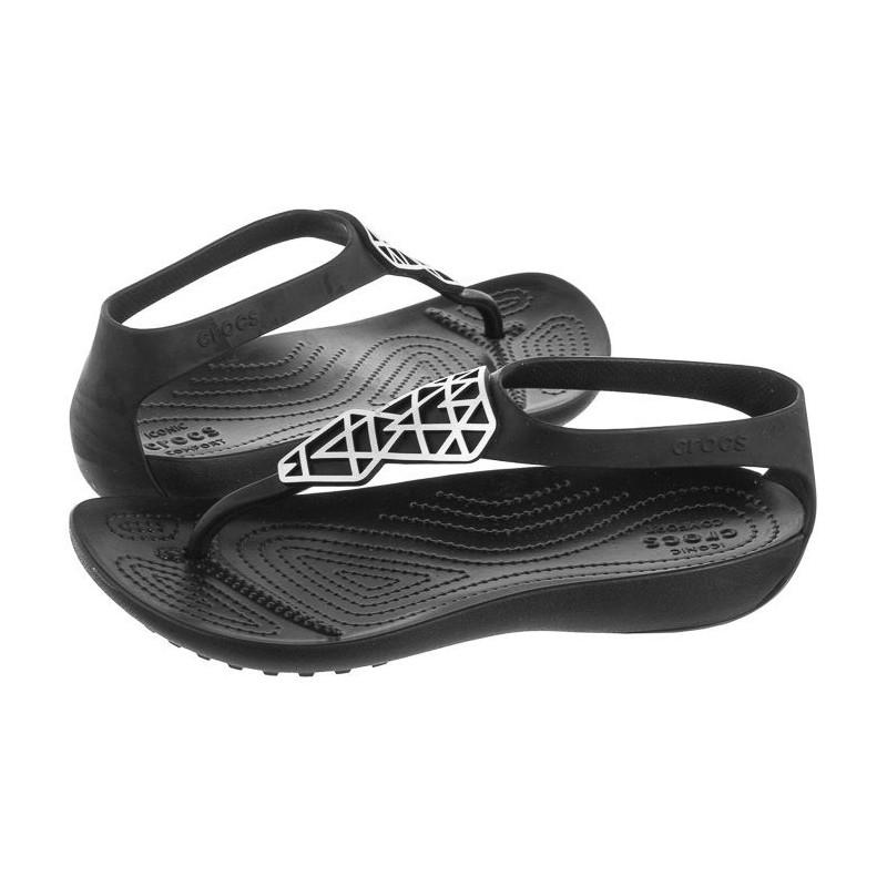 Crocs Serena Embellish Flip W Gunmetal/Black 205600-0FG (CR170-a) sandalai