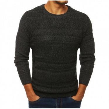 Megztinis (Sweter męski ciemnoszary WX1289 - Drabuziai rubai internetu