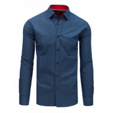 Marškiniai (Koszula męska PREMIUM z długim rękawem granatowa DX1762 - Drabuziai rubai internetu