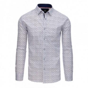 Marškiniai (Koszula męska PREMIUM z długim rękawem biała DX1769 - Drabuziai rubai internetu