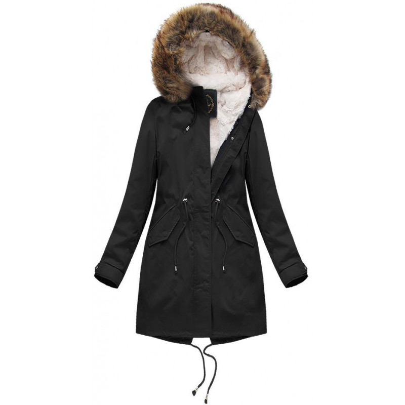 HOODED PARKA WITH LINER BLACK (X7600X) striukė