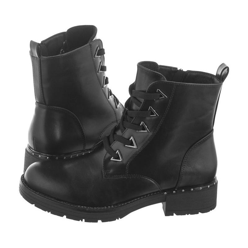 Sergio Leone Czarne PU TR718 (SL322-b) batai