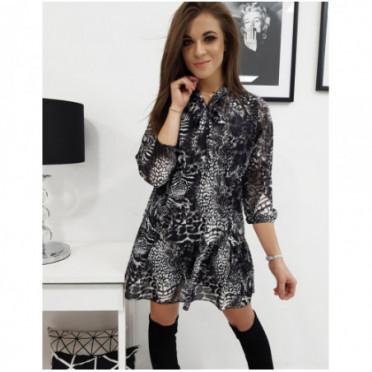 Suknelė (Sukienka BELLE w panterke EY1038 - Sukneles