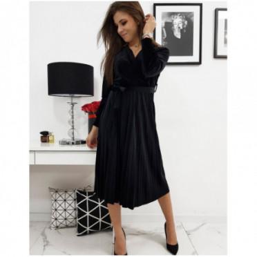 Suknelė (Sukienka atłasowa EFECTO czarna EY1041 - Sukneles