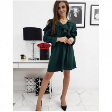 Suknelė (Sukienka CELINE zielona EY0589 - Sukneles