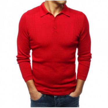 Megztinis (Sweter męski czerwony WX1416 - Drabuziai rubai internetu
