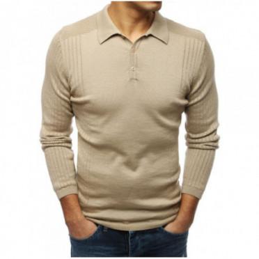 Megztinis (Sweter męski beżowy WX1420 - Drabuziai rubai internetu