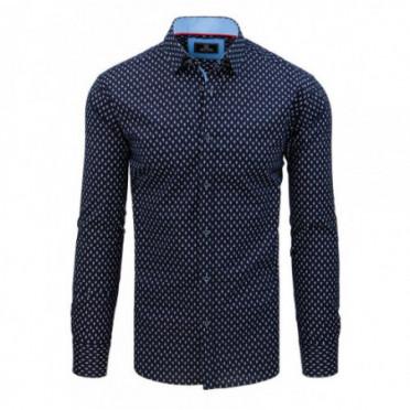 Marškiniai (Koszula męska PREMIUM z długim rękawem granatowa DX1791 - Drabuziai rubai internetu