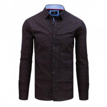 Marškiniai (Koszula męska PREMIUM z długim rękawem granatowa DX1794 - Drabuziai rubai internetu
