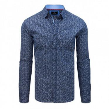 Marškiniai (Koszula męska PREMIUM z długim rękawem niebieska DX1799 - Drabuziai rubai internetu