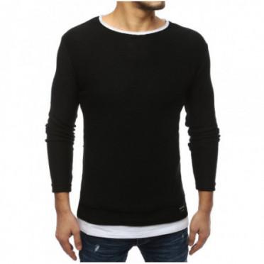 Megztinis (Sweter męski czarny WX1452 - Drabuziai rubai internetu