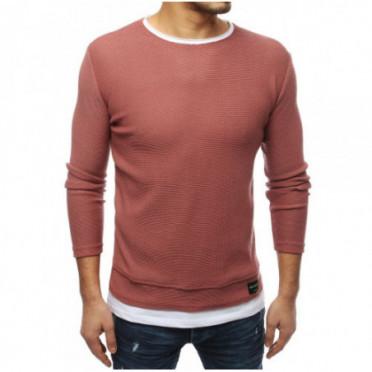 Megztinis (Sweter męski różowy WX1453 - Drabuziai rubai internetu