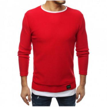 Megztinis (Sweter męski czerwony WX1454 - Drabuziai rubai internetu