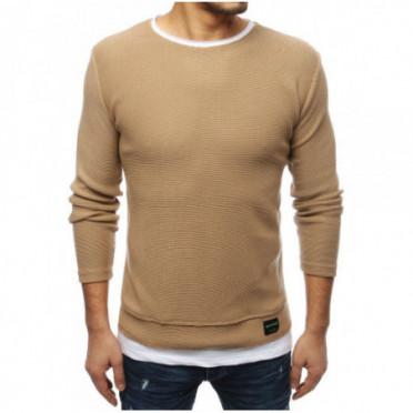 Megztinis (Sweter męski brązowy WX1456 - Drabuziai rubai internetu