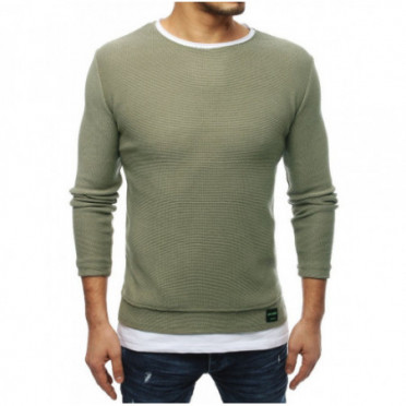 Megztinis (Sweter męski khaki WX1457 - Drabuziai rubai internetu