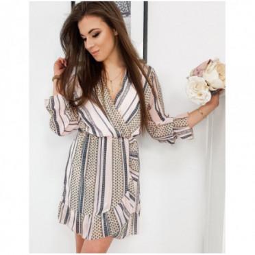 Suknelė (Sukienka AMELIA jasnoróżowa EY1093 - Sukneles