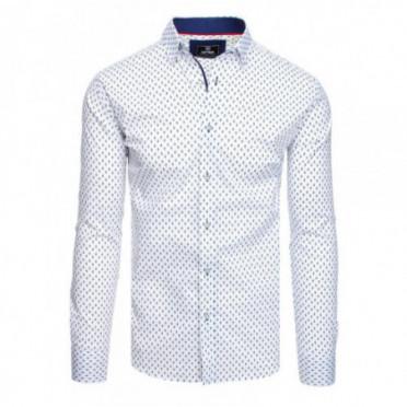 Marškiniai (Koszula męska PREMIUM z długim rękawem biała DX1807 - Drabuziai rubai internetu