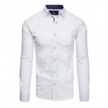 Marškiniai (Koszula męska PREMIUM z długim rękawem biała DX1808 - Drabuziai rubai internetu